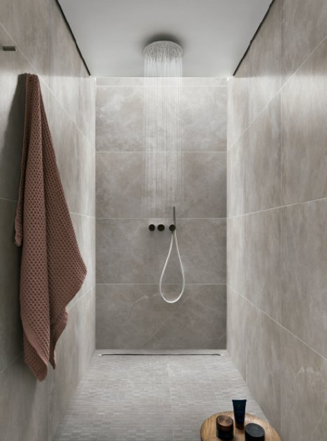 bathroom large format tiles